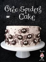 Halloween Bundt Cake Decorations by Bird On A Cake Oreo Spiders Cake