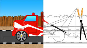 tow truck coloring book for children colors for kids youtube
