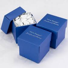 personalized favor boxes mix and match personalized royal blue favor box set of 25