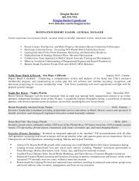 Hotel Manager Resume Douglas Rucker 2016 General Manager Resume