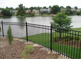fortress ornamental steel fencing versai v2 commercial steel