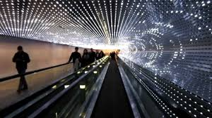 Art Lights The Concourse Walkway And Multiverse Light Sculpture National