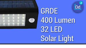 Solar Light by Grde 400 Lumen 32 Led Solar Light Youtube