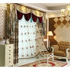 Gold Thermal Curtains Gold Damask Jacquard Polyester Luxury Curtains And Drapes