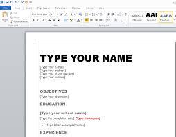 Resume Templates On Microsoft Word Resume Template Microsoft Word 2010 Jospar