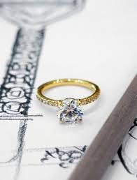 classic designs rings images Morgana classic diamond engagement ring with micropav in yellow jpg