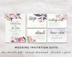 printable invitation rustic wedding green wedding
