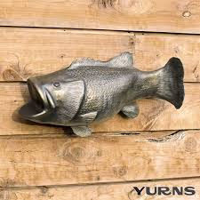 Buy a Custom Cremation Urn Ceramic Wall Sculpture Bass Fish