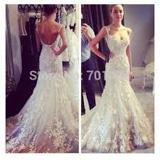low back wedding dresses aliexpress buy fashionable spaghetti straps lace wedding