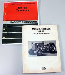 set massey ferguson mf 65 tractor tractor service repair owners