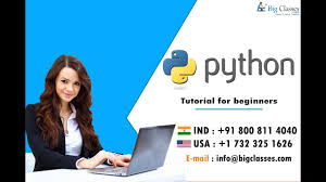online tutorial of python python tutorial python tutorial for beginners bigclasses youtube