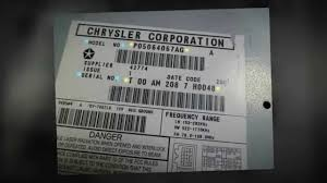 need a code for chrysler jeep and dodge radios youtube