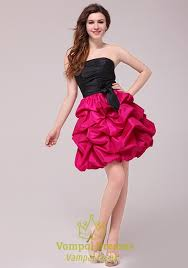 hot pink dress hot pink and black homecoming cocktail dresses black top pink