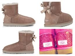 customise your ugg boots for free this autumn global blue custom ugg boots made with swarovski mini bailey bow shiny reptile