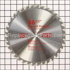 ryobi table saw blade size 10 5 8 arbor 36 tooth table saw blade 089110110001 for ryobi