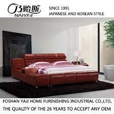 china japanese and korean modern style genuine leather bed for