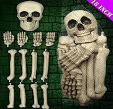 Skeleton Halloween Decoration Uk by Halloween Party Large Plastic Corpse Skeleton Bones Skull