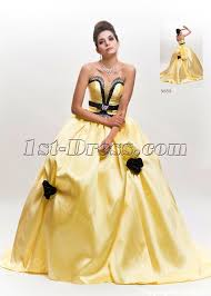 yellow wedding dress princess yellow and black wedding dress with 1st dress