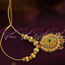 gold short chain necklace images Nl8645 traditional gold design fancy pendant beads roll kodi short JPG