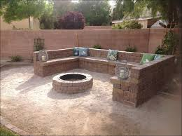 outdoor outdoor fire pit ideas backyard concrete stone fire pit