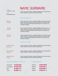 simple professional resume template professional simple styled resume template design with pink and professional simple styled resume template design with pink and blue headings and gray background stock