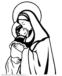religious christmas bible coloring pages mary and jesus coloring
