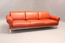 Orange Leather Sofa U003cinput Typehidden Prepossessing Orange Leather Sofa Home