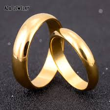 simple wedding bands for simple engagement wedding rings set gold plated