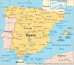 map of spain map of spain