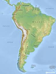 Physical Map Of Europe Rivers by Free Physical Maps Of South America U2013 Mapswire Com