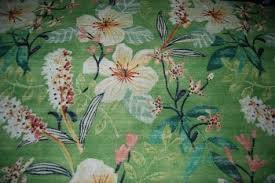 Upholstery Weight Fabric Hd690 Heavy Tropical Retro Barkcloth Texture Cotton Fabric