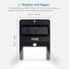 Dusk To Dawn Motion Sensor Outdoor Lighting Solar Lights Amir Solar Energy Powered Outdoor Bright Light