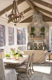 creative juices decor inspirational covered porches with fireplaces