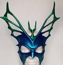 leather masquerade masks mask blue hydra god mask leather masquerade