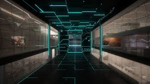 wallpaper computer room space monitors line staley room technology sci fi science computer