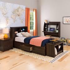 amazon com espresso twin bookcase headboard