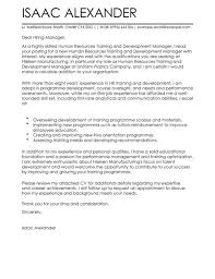 training and development cover letter examples livecareer