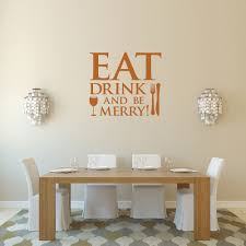 wall decals eat drink and be merry color the walls of your house