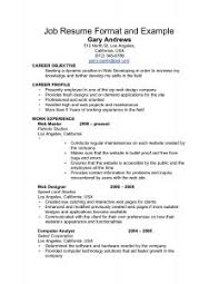 Sample Job Objective For Resume by Resume Template Job Objective Examples Career Example In 79