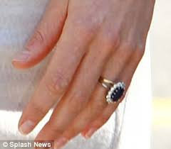 kate wedding ring kate middleton why we saw the duchess s sapphire sparkler then
