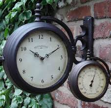 Outdoor Pedestal Clock Thermometer Outdoor Clocks By Dans Clocks Time Is Of The Essence Pinterest