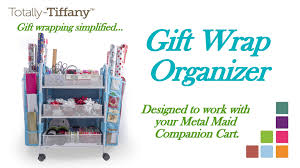 gift wrap cart gift wrap organization with totally