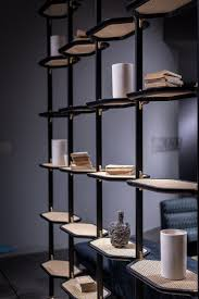 floor ceiling mounted metal bookcase libelle baxter bookcases