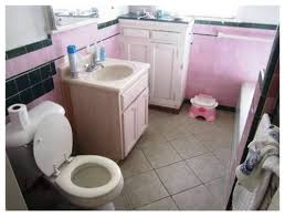 tile or cabinets first bathroom rehab on tight budget what should i do first