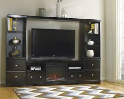 Electric Fireplace With Storage by Furniture Electric Fireplace With Tv Stand Made Of Wooden In