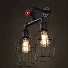 Fashion Style Wall Sconces Pipe Black Industrial Lighting