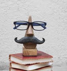 Mustache Home Decor Amazon Com Witty Hand Carved Wooden Eyeglass Spectacle Holder