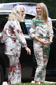 gwyneth paltrow and mother blythe danner rock matching print