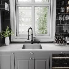 black faucet kitchen vigo edison matte black pull spray kitchen faucet free