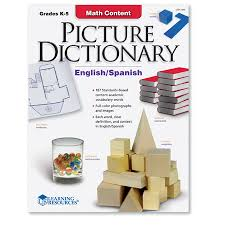 math content picture dictionary learning resources